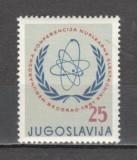 Iugoslavia.1961 Conferinta internationala ptr. electronica nucleara  SI.293, Nestampilat