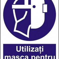 Indicator Utilizati masca pentru sudura - Semn Protectia Muncii