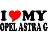 Sticker I Love My Opel Astra G