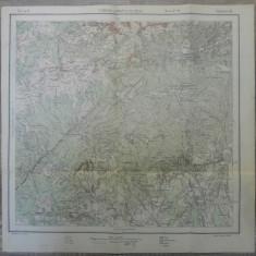 Tismana si Campul lui Neag// harta Serviciul Geografic Armatei 1916