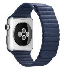 Curea piele pentru Apple Watch 40mm iUni Midnight Blue Leather Loop