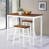VidaXL Set mobilier tip bar, masă și scaune, 3 piese, lemn masiv