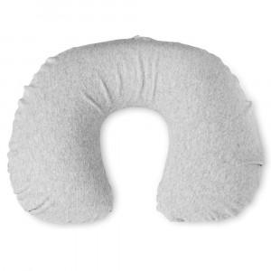 Perna gonflabila de gat, Everestus, CN01, bumbac, vinyl, gri, saculet de calatorie inclus