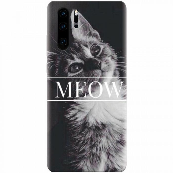 Husa silicon pentru Huawei P30 Pro, Meow Cute Cat