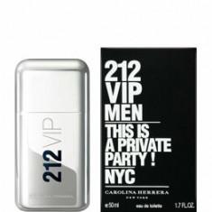 Apa de toaleta Carolina Herrera 212 VIP, 50 ml, pentru barbati