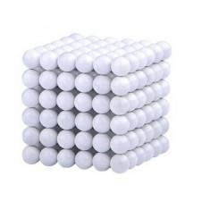 Neocube 216 bile magnetice 5mm, joc puzzle, culoare alba, peste 14 ani