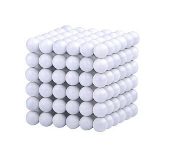 Neocube 216 bile magnetice 5mm, joc puzzle, culoare alba