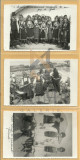 Lot 3 FOTOGRAFII-CARTI POSTALE cu PORTUL NATIONAL AL MACEDOROMANILOR, FARSEROTI, BAZARGIC