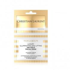 Masca de fata Christian Laurent, cu efect de lifting si iluminare cu aur de 24K, 10 ml