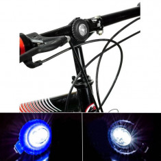 Set 2 lumini siguranta silicon pentru biciclete