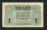 Ocupatia germana in Romania 1 leu 1917 VF