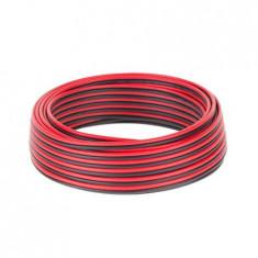 Cablu difuzor CCA 2x0.75mm rosu/negru 10m, Cabluri boxe