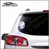 Skull Mazda -Stickere Auto-Cod:VIS-080-Dim. 15 cm. x 11.9 cm.