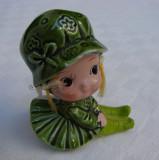 Miniatura - fetita din majolica japoneza
