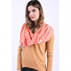 Fular Only Giorga Knitted Orange