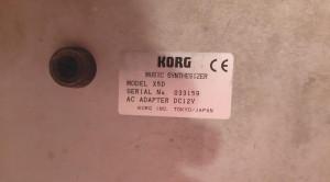 Orga Korg X5D Music Synthesizer Keyboard