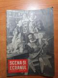 Scena si ecranul aprilie 1958-art. george vraca,radu beligan,colea rautu