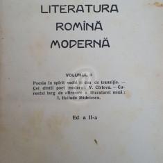 Literatura romana moderna, vol. 2 (1929)