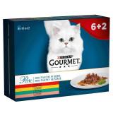 Gourmet Perle hrană pentru pisici la plic, felii mini în sos 8 x 85 g