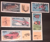 Cambodgia 1992 masini, parasutism, helicopter, scafandru 5v. mnh, Nestampilat