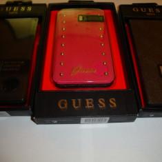 Husa GUESS pentru Samsung Galaxy S5 battery flip book case roz negru