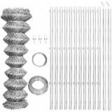 VidaXL Gard din plasă cu stâlpi, argintiu, 25 x 0,8 m, oțel galvanizat