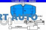 Cumpara ieftin Set placute frana spate Ford Transit 7 (2006->), Array