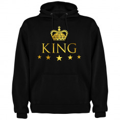 Hanorac barbati King, negru/auriu