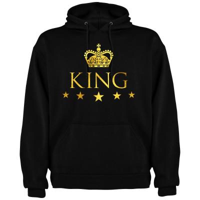 Hanorac barbati King, negru/auriu foto