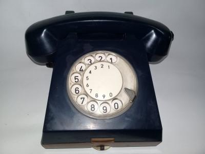 Telefon vechi cu disc,perioada Comunista,telefon cu disc Bleumarin,RAR,T.GRATUIT foto