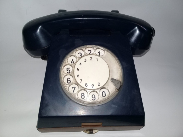 Telefon vechi cu disc,perioada Comunista,telefon cu disc Bleumarin,RAR,T.GRATUIT