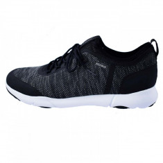 Pantofi tip adidasi de barbati, din textil, marca Geox, U826AB-C9999-1, negru