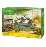 Cumpara ieftin Puzzle 3D + Brosura Parcul Dinozaurilor, 43 piese, CubicFun