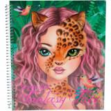 Carte de colorat Creatia ta Fantasy Face Depesche PT6463Initiala