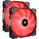 Cooler carcasa AF140 LED Low Noise Cooling Fan, 1200 RPM, Dual Pack - Red, Corsair