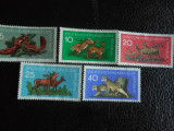 Serie timbre fauna animale nestampilate Germania DDR filatelice postale