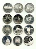 USA/SUA Monede 1 DOLLAR ARGINT COMEMORATIV - .900 Ag, 27g - 12 bucati