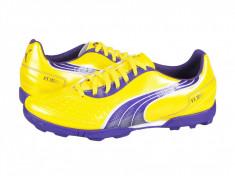 Ghete fotbal Puma V5.11 TT yellow-purple-white 10233904, 44, Galben, Barbati