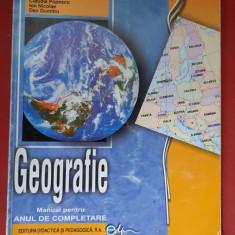 GEOGRAFIE MANUAL PENTRU ANUL DE COMPLETARE DONISA ,ATANASIU ,VELCEA