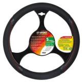 Husa volan Lampa GT-Sport Premium 35/37 cm Negru