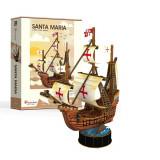 Puzzle 3D Cubic Fun Ambarcatiunea Santa Maria EVO