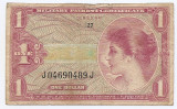 Statele Unite (SUA) 1 Dolar ND 1965 - US Army, Series  641, J04690489J - P-M61