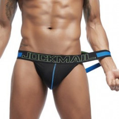 Sexy Chiloti Jockstrap Barbati Male JockMail Push Up Suspensor Mesh Open Back