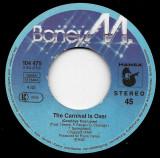 "Boney M. - The Carnival Is Over / Going Back West 1982, Disc vinil single 7"""
