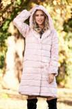 Blana SunShine roz deschis elegant din blana ecologica captusit pe interior cu buzunare