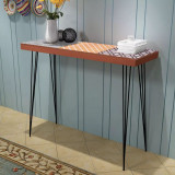 VidaXL Masă consolă, 90x30x71,5 cm, maro
