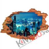 """Sticker """"Wall Crack"""" Hongkong 2 - 120 x 80 cm"""