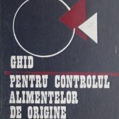 Ghid pentru controlul alimentelor de origine animala – Popa Gavrila, Popescu F. Nicolae