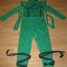 Costum carnaval serbare ninja pentru copii de 12-13-14 ani, 10-11 ani, Din imagine
