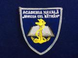 """Efecte militare - Emblema textila - Academia navală ,,Mircea cel Batran"""" (2)"""